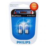 Лампа T4W Philips Blue VISION (блистер) (2шт)